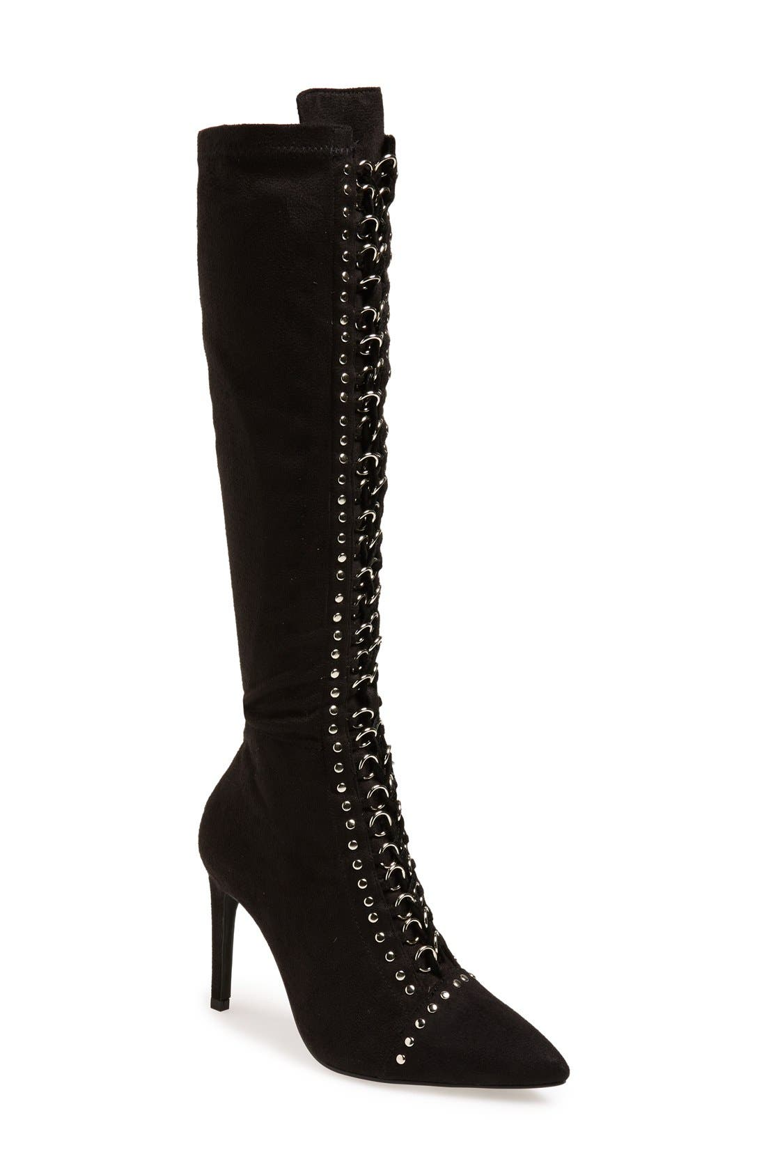 Alternate Image 1 Selected - Jeffrey Campbell 'Bisset' Lace-Up Boot (Women)