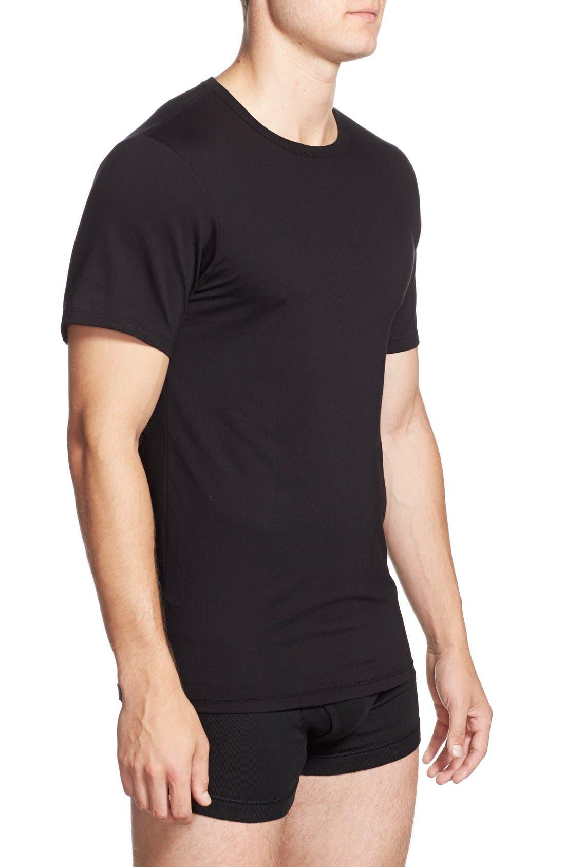 Alternate Image 4  - Calvin Klein Slim Fit 3-Pack Cotton T-Shirt