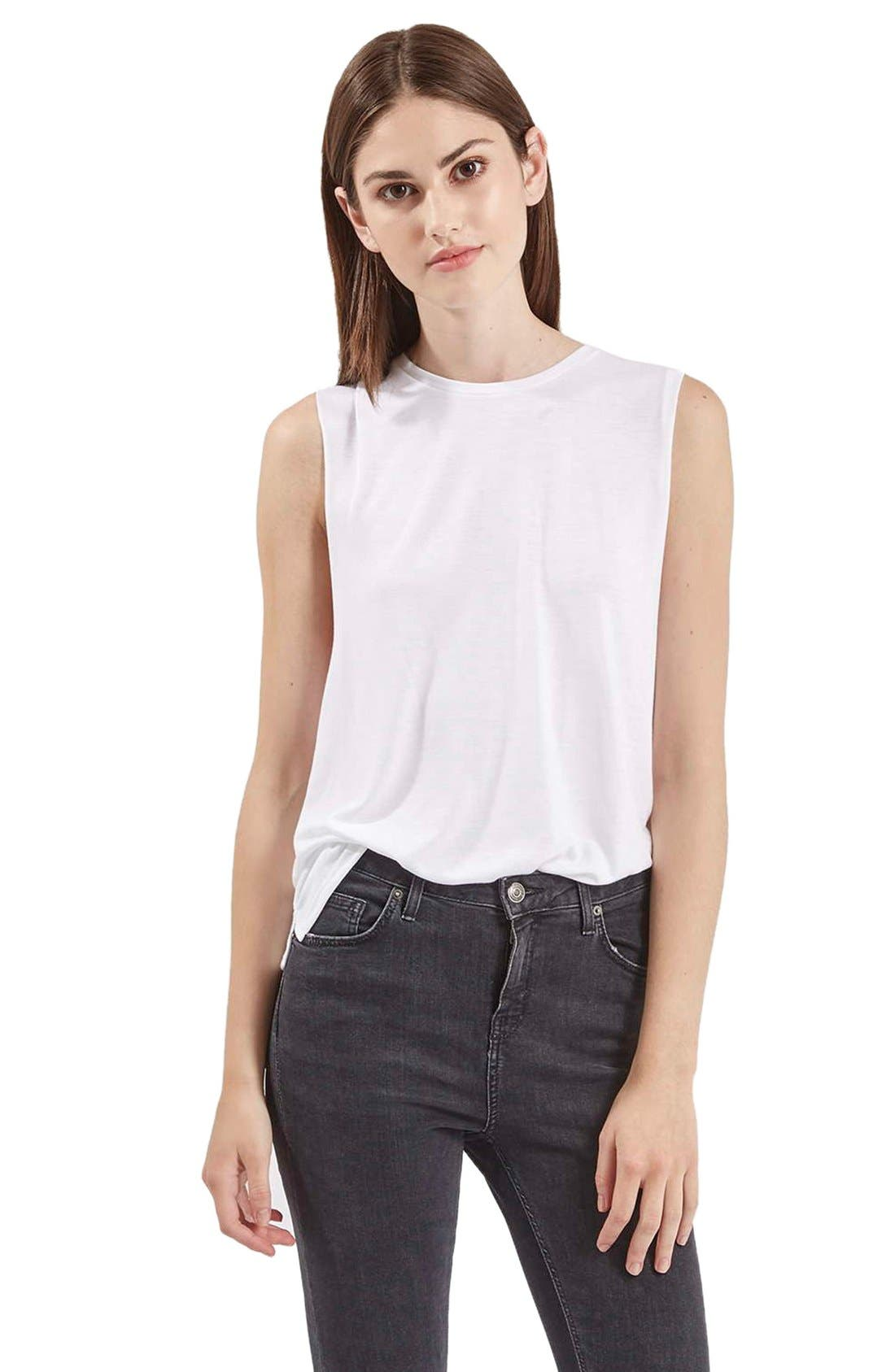 Alternate Image 1 Selected - Topshop Slouchy Muscle Tank