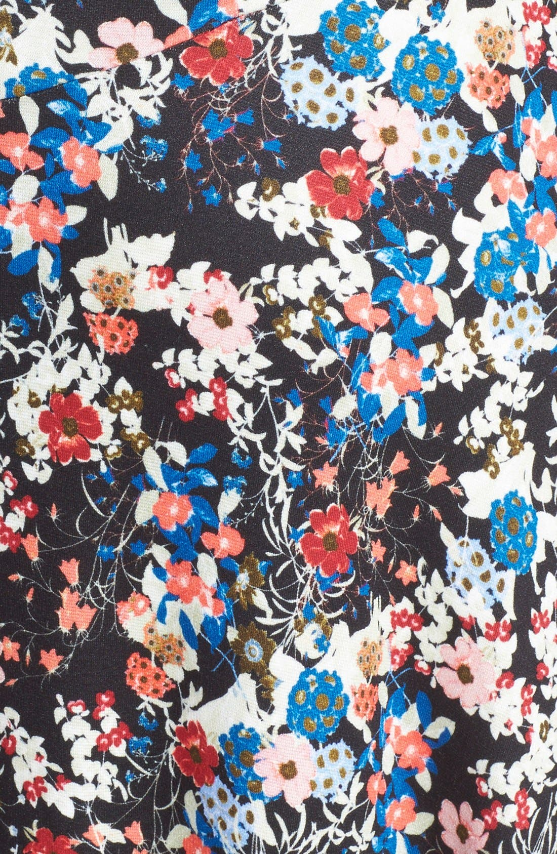 'Valentina' Floral Print JerseyGown,                             Alternate thumbnail 3, color,                             Pink/ Multi
