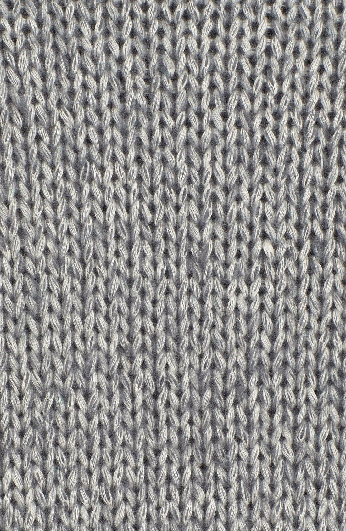 Pattern Front Mock Neck Sweater,                             Alternate thumbnail 5, color,                             Charcoal Marl