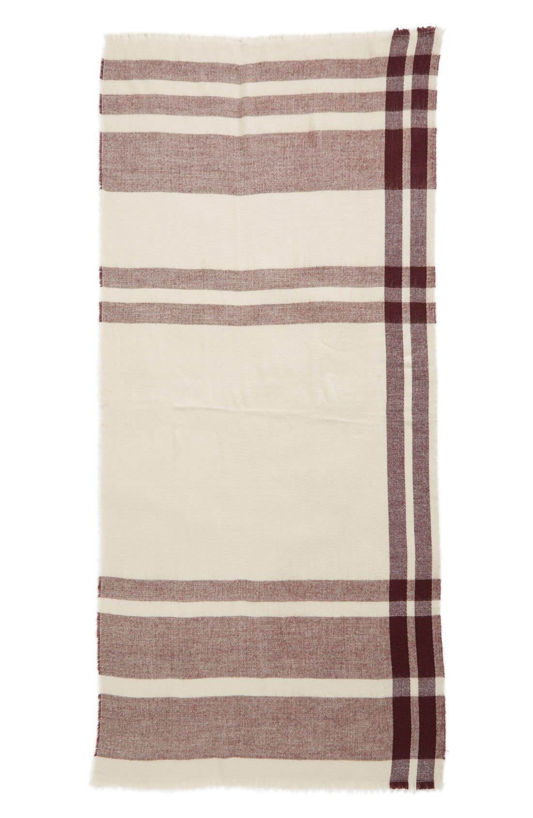 Alternate Image 2  - BP. Fringe Trim Plaid Oblong Scarf