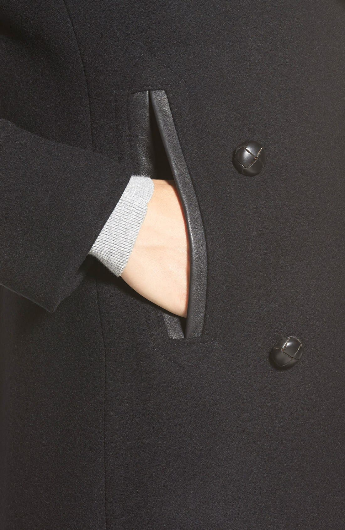 Alternate Image 6  - Pendleton'Cascades' Double Breasted Wool Blend Peacoat