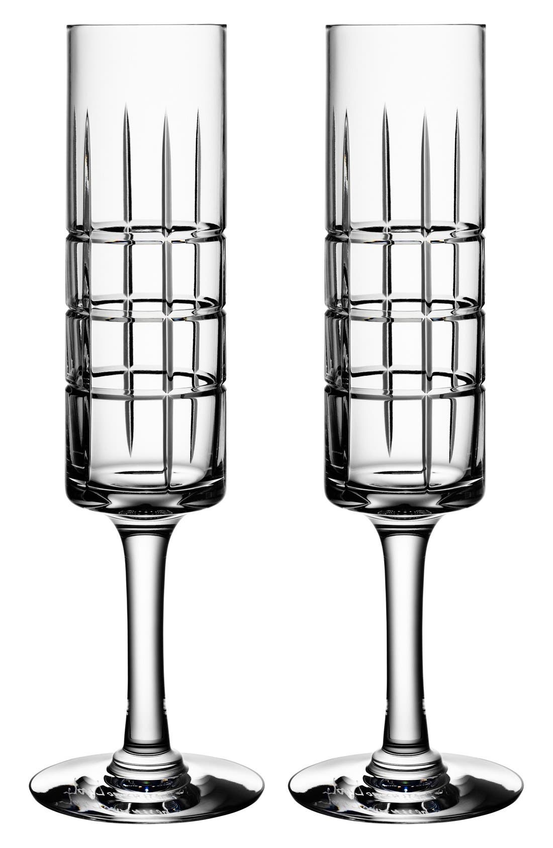 Alternate Image 1 Selected - Orrefors 'Street' Crystal Champagne Flutes (Set of 2)
