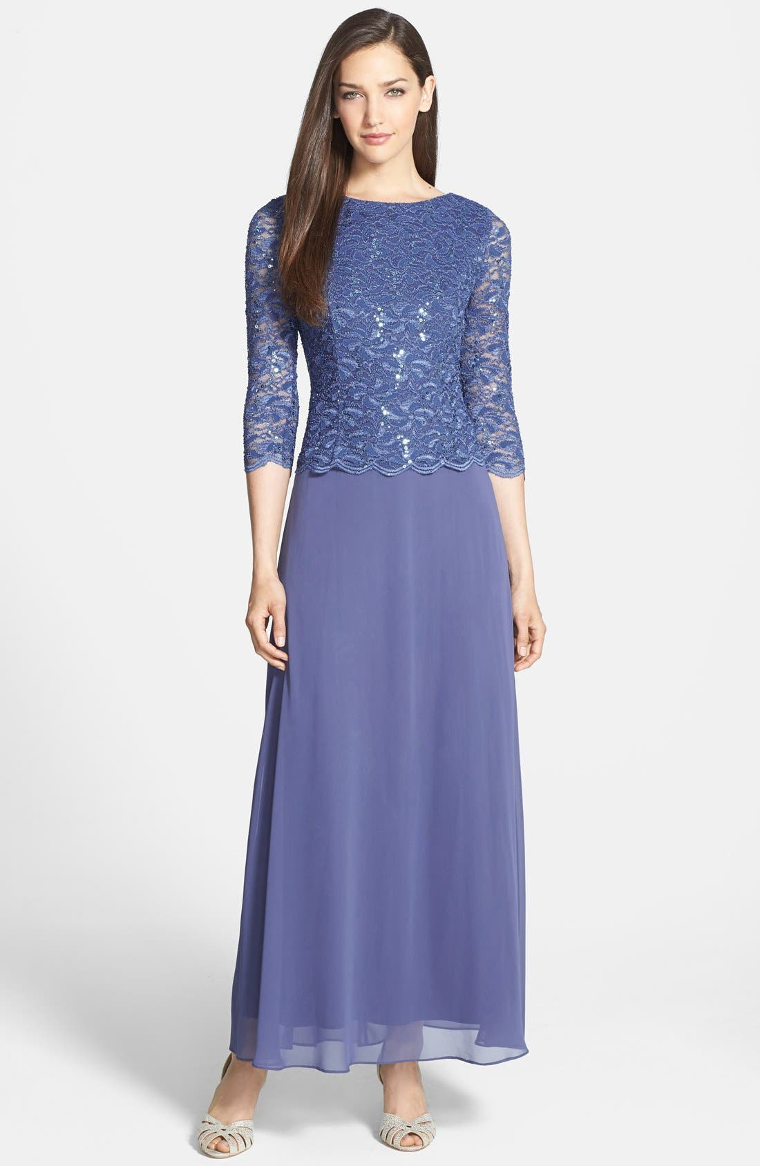 Alex Evenings Mock Two-Piece Dress (Regular & Petite) | Nordstrom