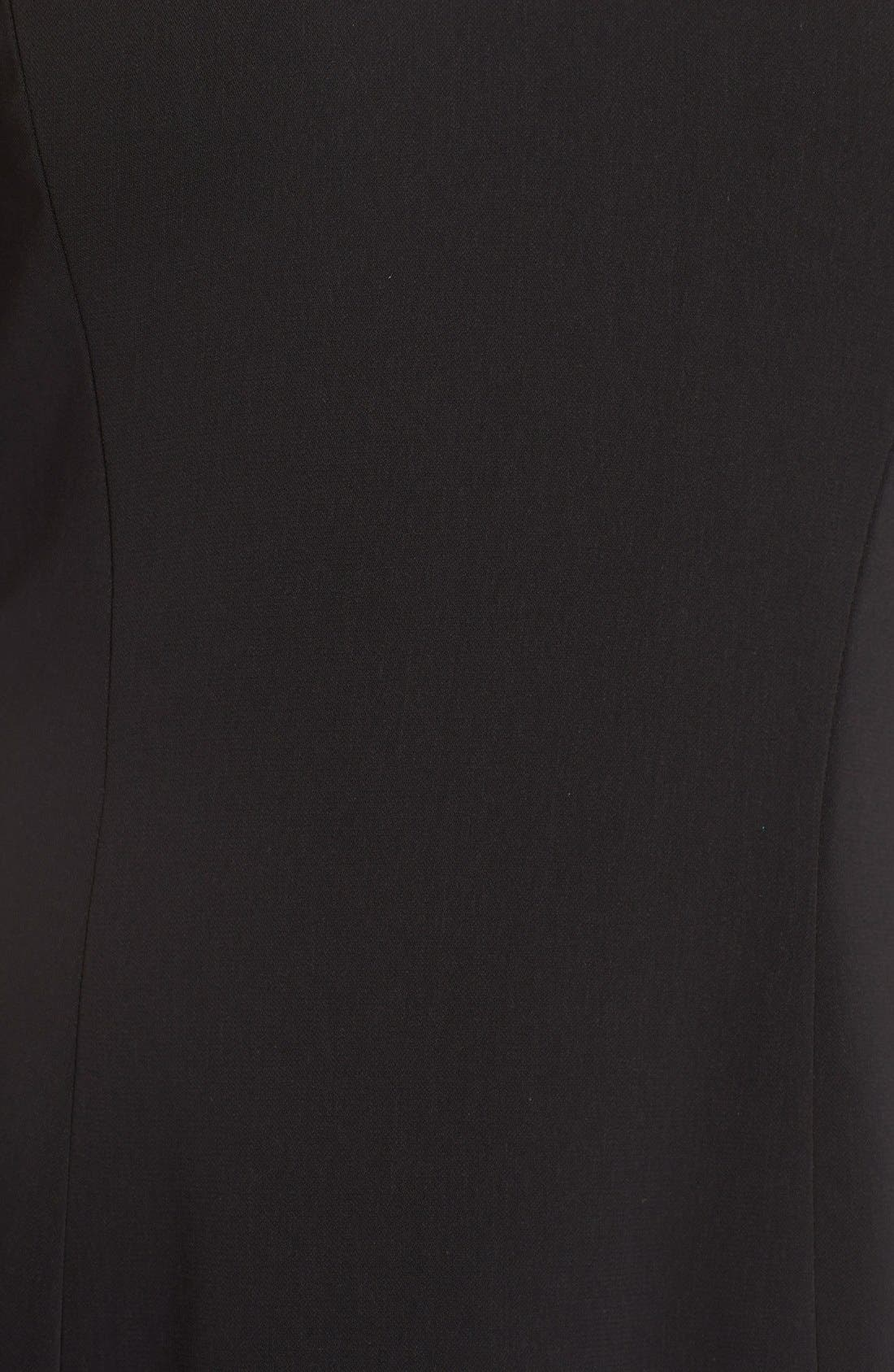 Alternate Image 6  - Carmen Marc Valvo InfusionBeaded Neck Crepe Sheath Dress