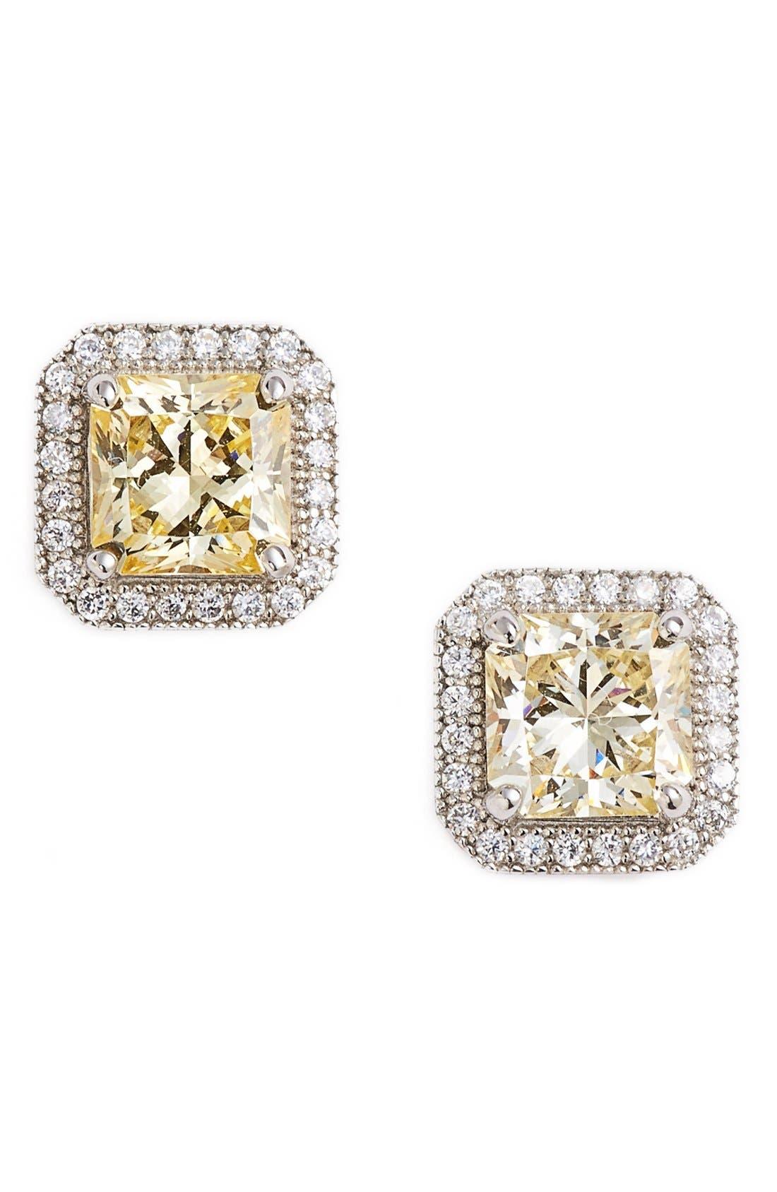 Lafonn'Lassaire' Canary Stud Earrings