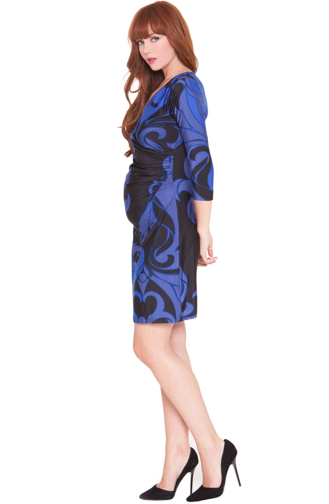 Alternate Image 3  - Olian 'Katherine' Maternity Wrap Dress