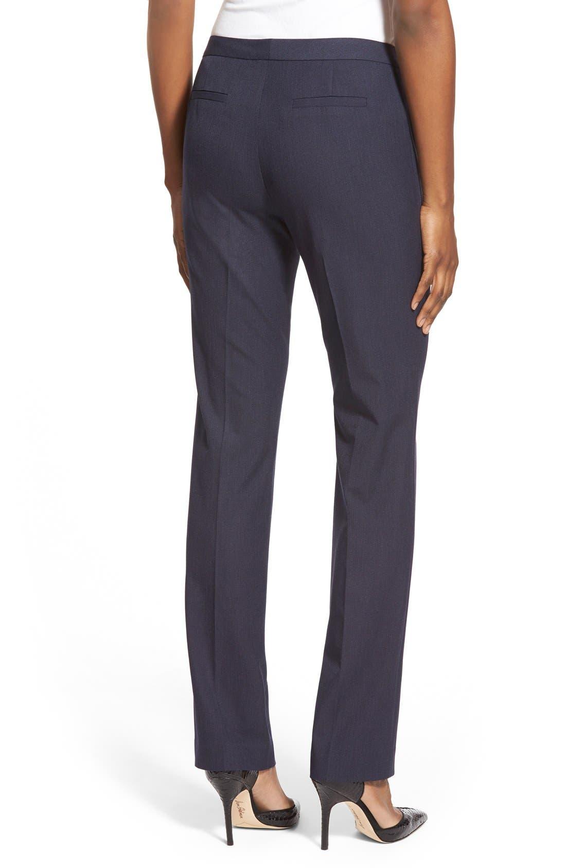 Alternate Image 2  - Halogen® 'Taylor' Stretch SuitPants (Regular & Petite)