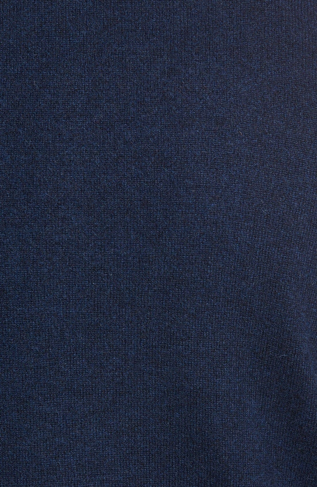 Quarter Zip Cashmere Sweater,                             Alternate thumbnail 5, color,                             Blue Estate Heather
