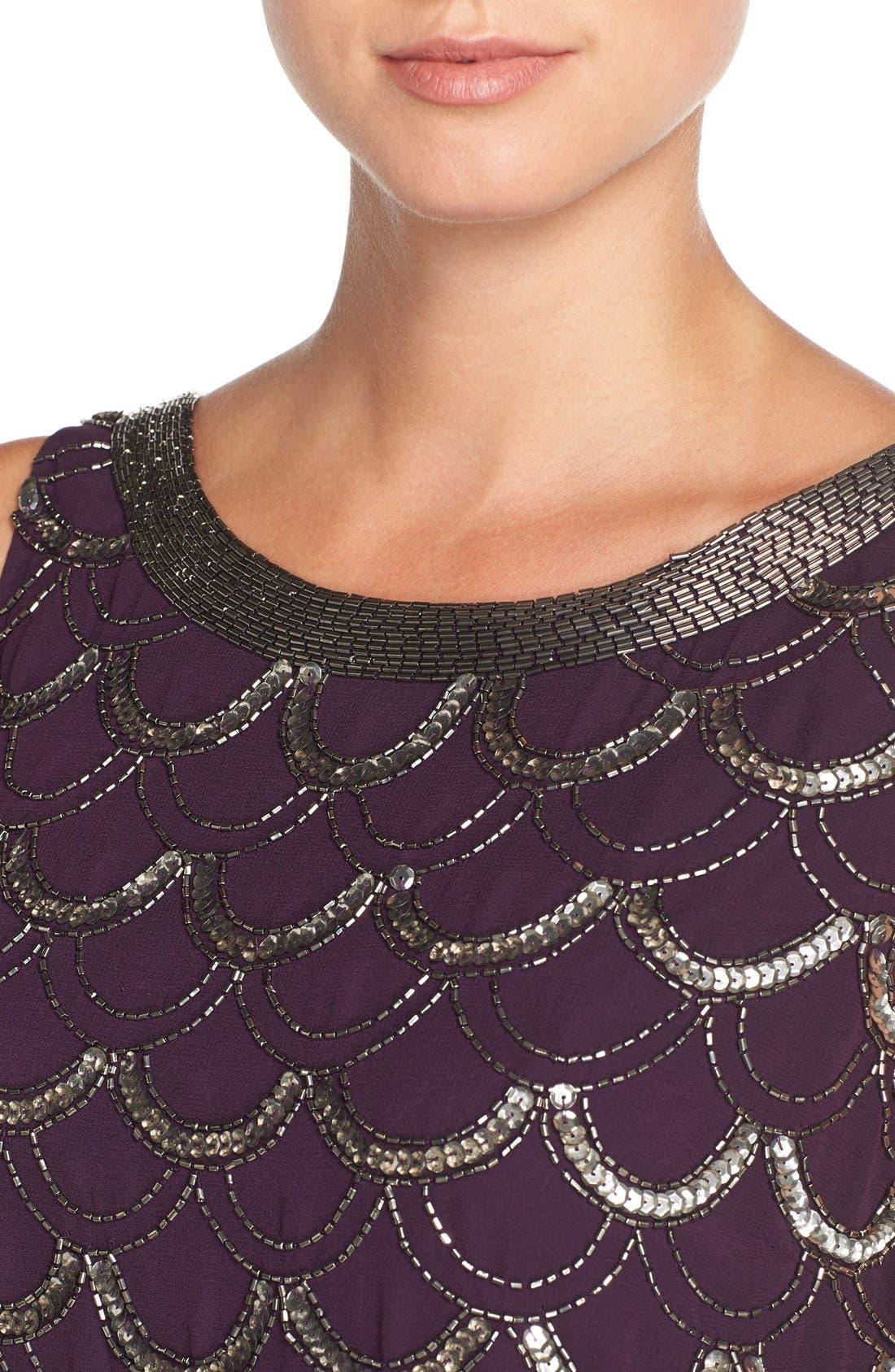 Alternate Image 5  - Adrianna Papell Beaded Chiffon Dress (Regular & Petite)