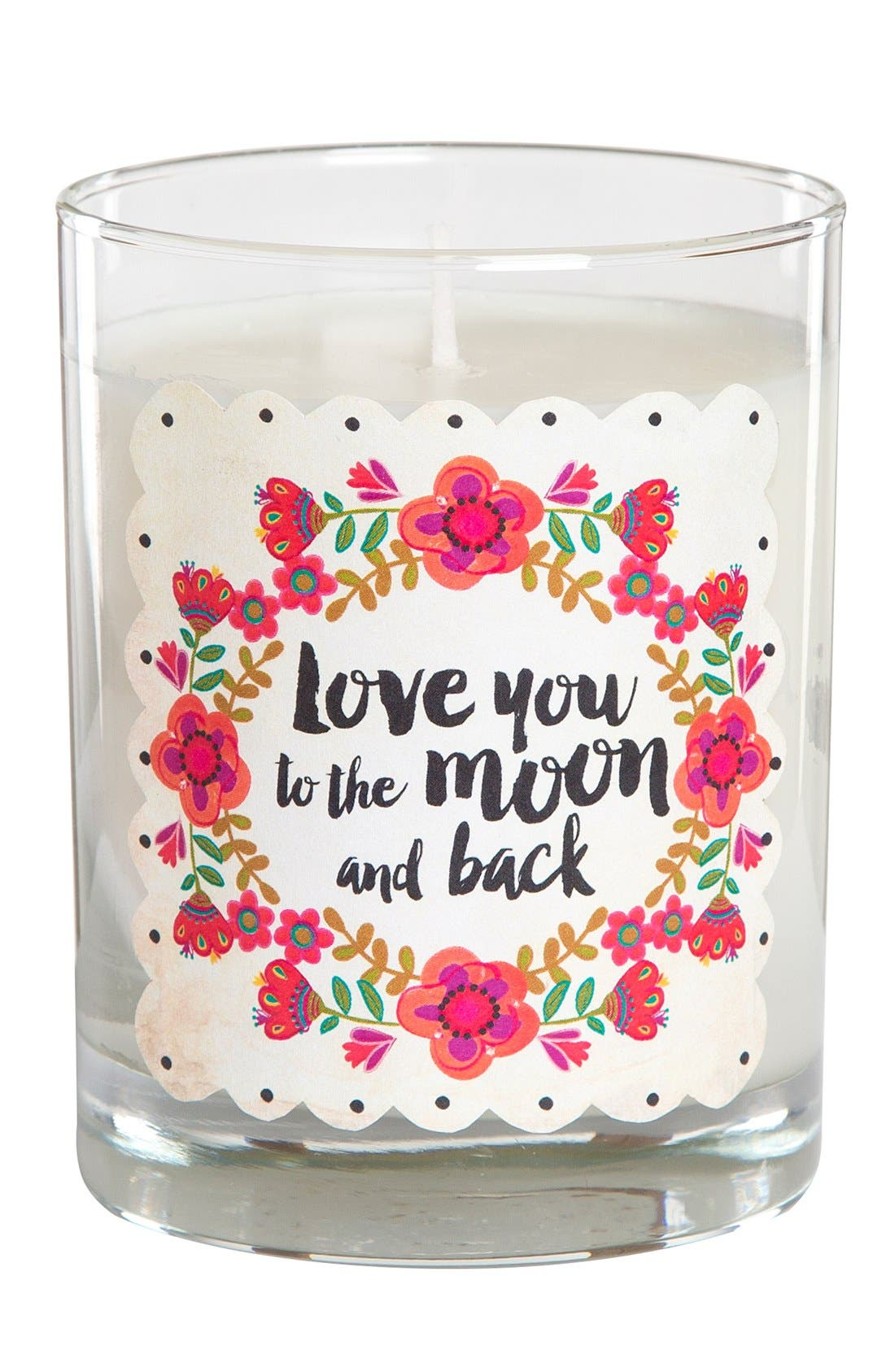 Alternate Image 1 Selected - Natural Life 'Love You to the Moon and Back' Pink Candle