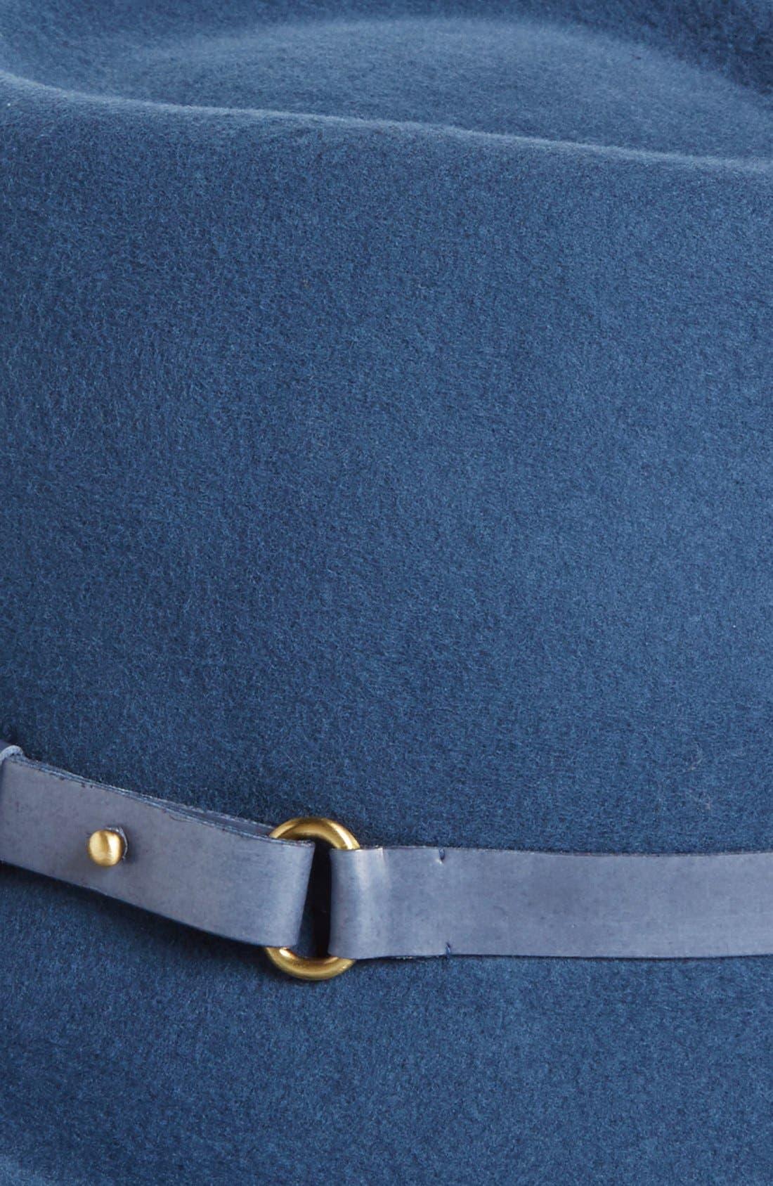 Classic Wool Fedora,                             Alternate thumbnail 2, color,                             Indigo