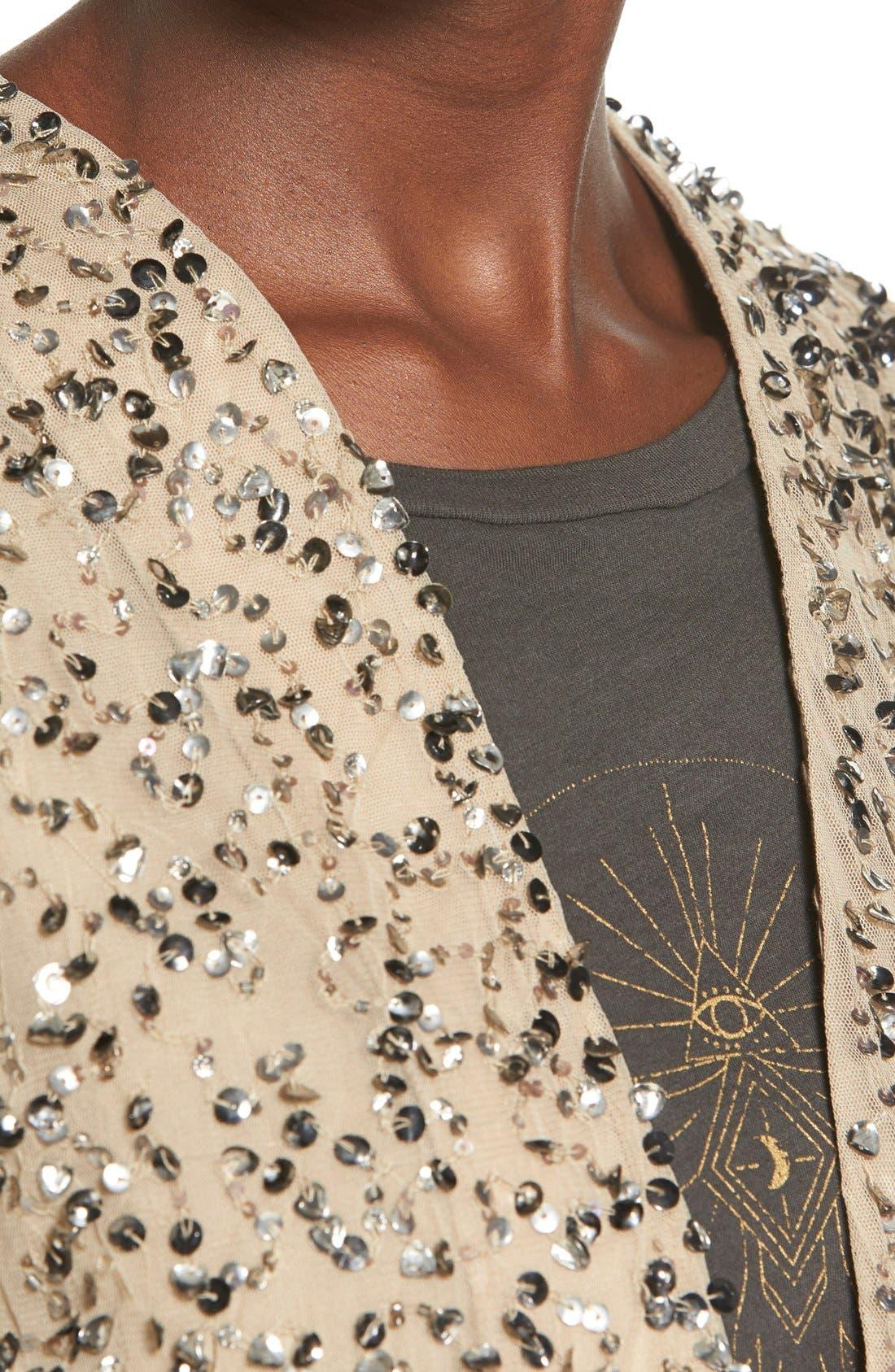 Alternate Image 4  - Billabong 'Eyes on Me' Sequin Cutaway Jacket