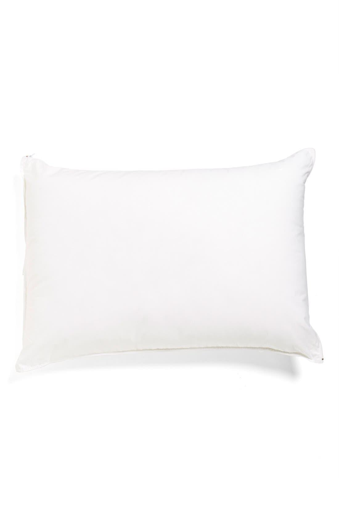 Memory Foam Core Pillow,                         Main,                         color, White