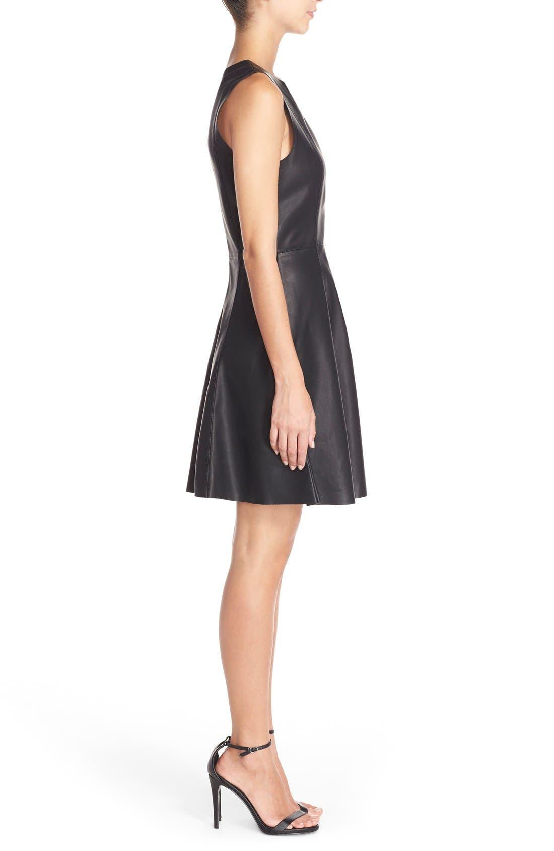 Alternate Image 3  - BB Dakota FauxLeather Fit & Flare Dress