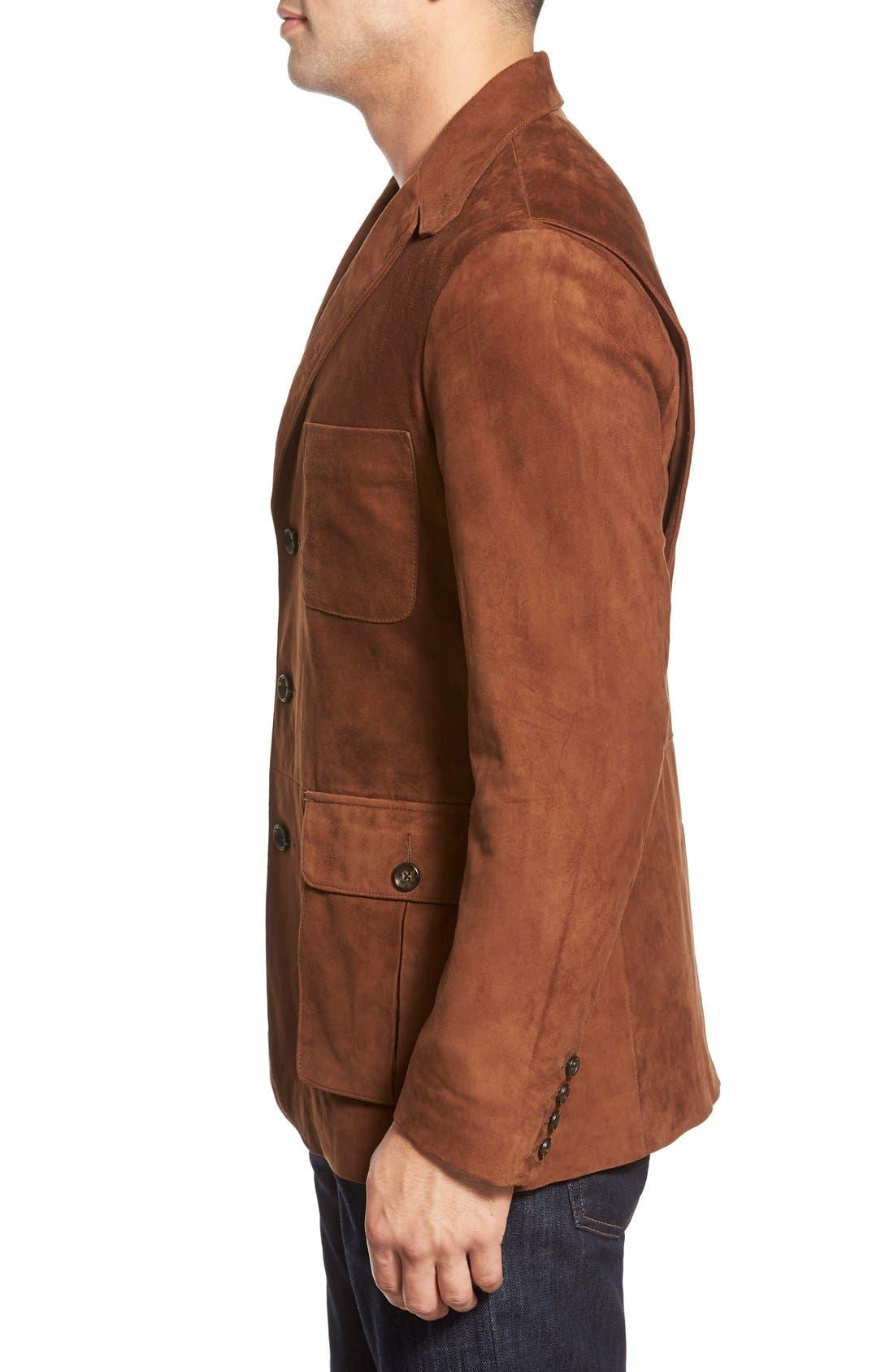 Alternate Image 3  - Golden Bear Slim FitSuede Blazer