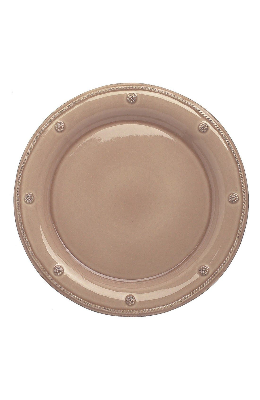 'Berry and Thread' Dinner Plate,                             Main thumbnail 1, color,                             Cappuccino Brown