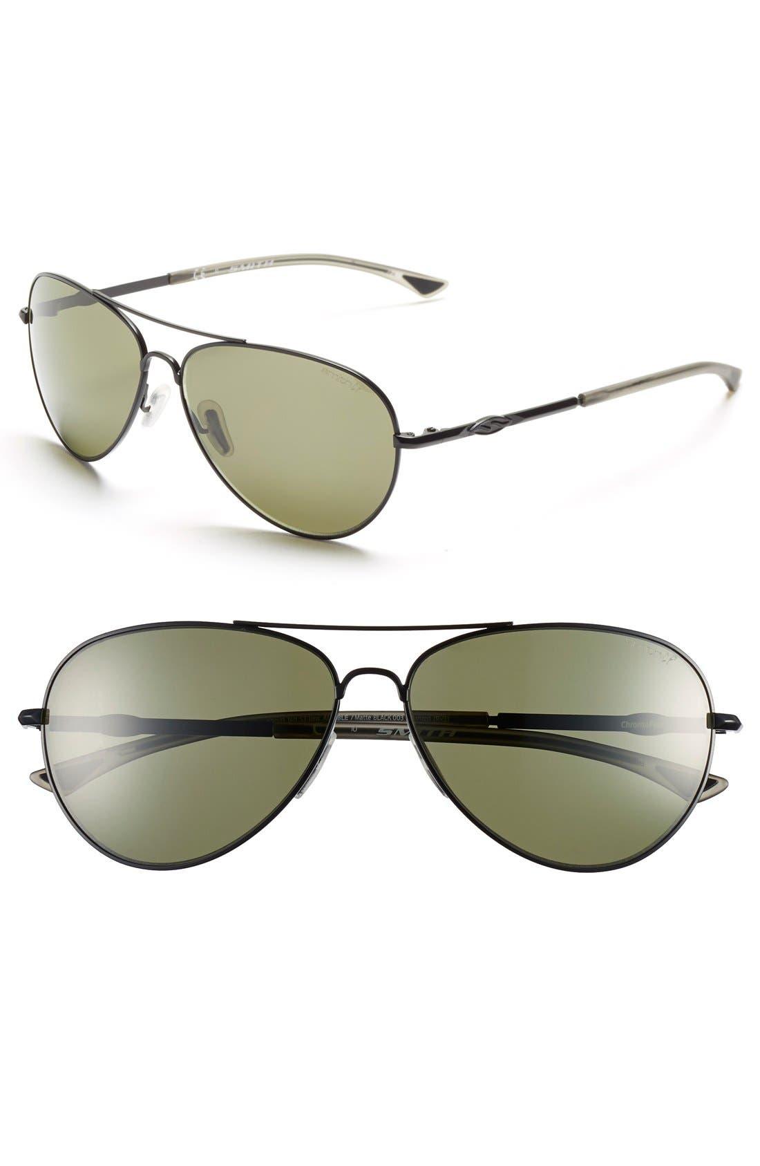 Main Image - Smith 'Audible - ChromaPop' 60mm Polarized Aviator Sunglasses