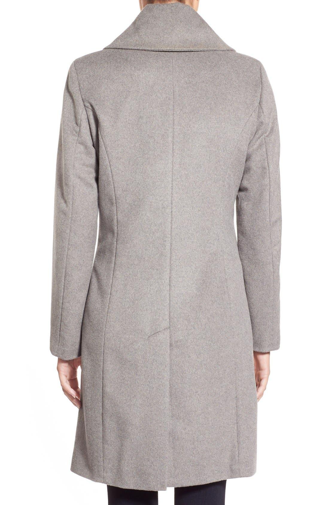 Single Breasted Wool Blend Coat,                             Alternate thumbnail 2, color,                             Platinum