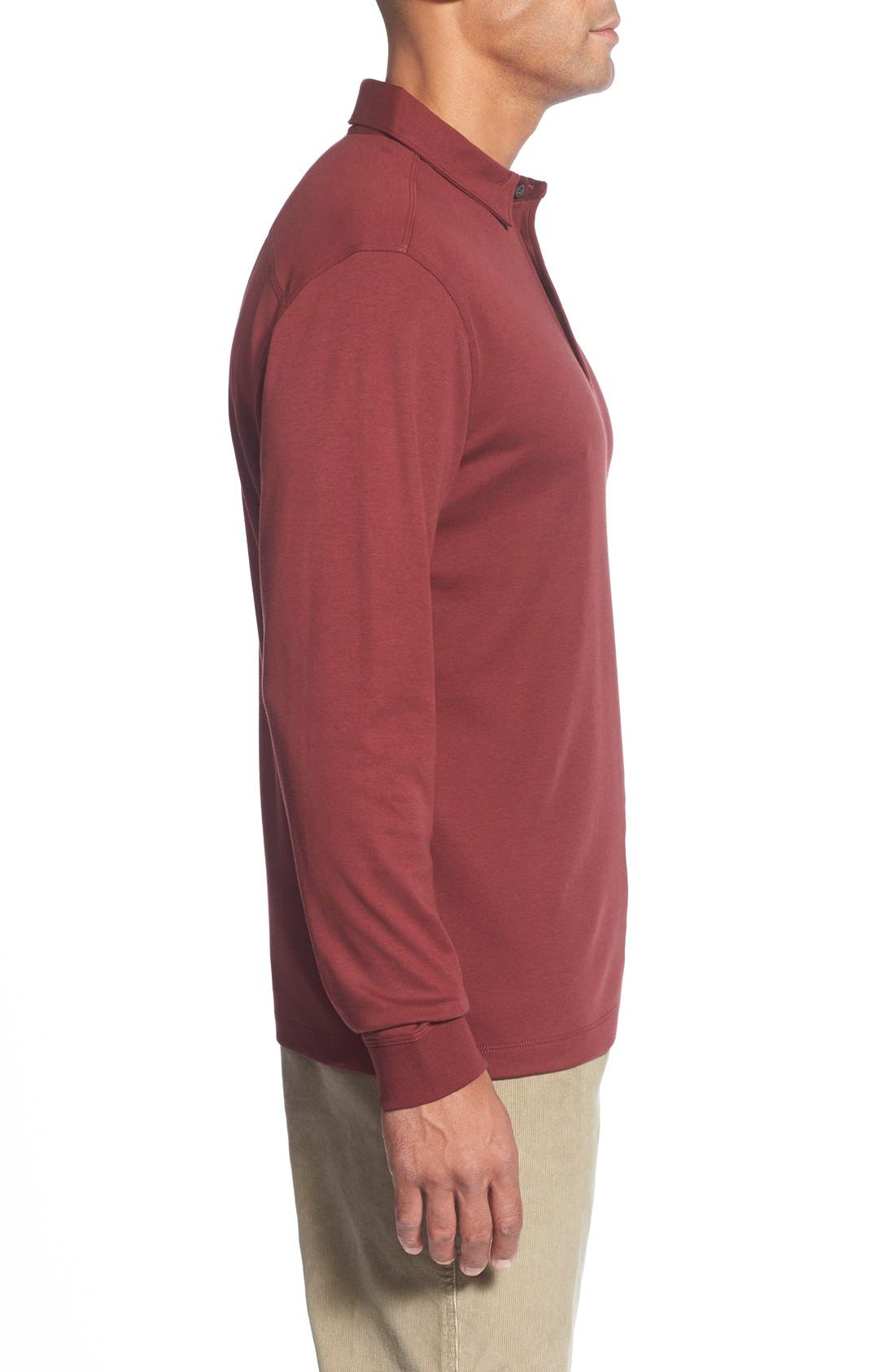 'Belfair' Pima Cotton Polo,                             Alternate thumbnail 3, color,                             Sleigh