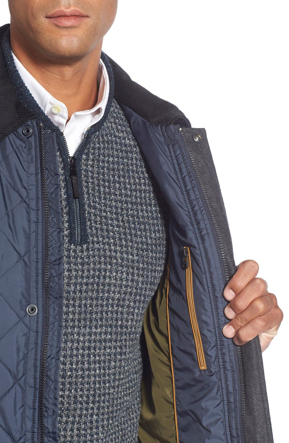 Quilted Jacket,                             Alternate thumbnail 4, color,                             Navy