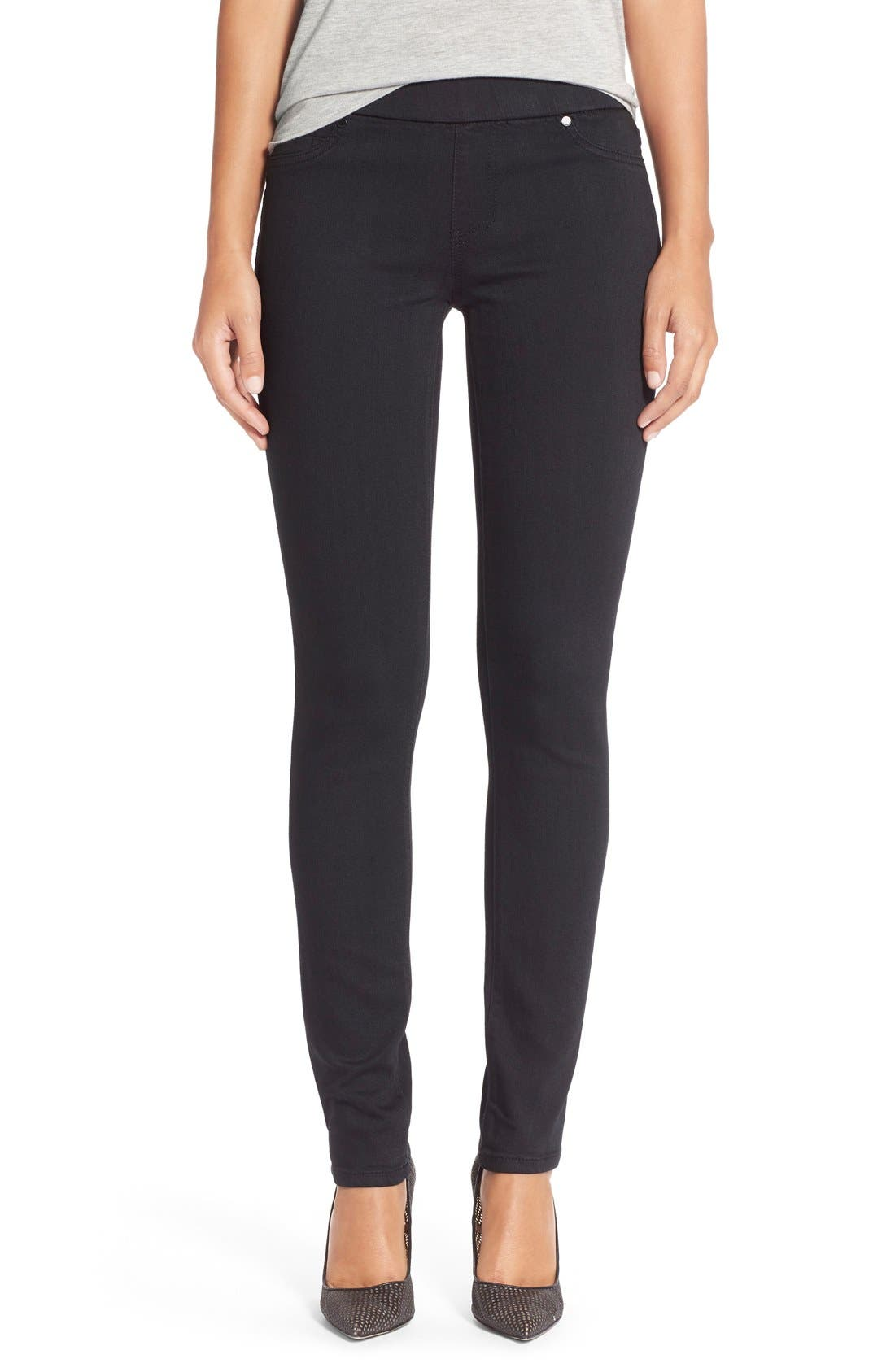 Main Image - Liverpool Jeans Company 'Sienna' Pull-On Knit Denim Leggings (Petite)