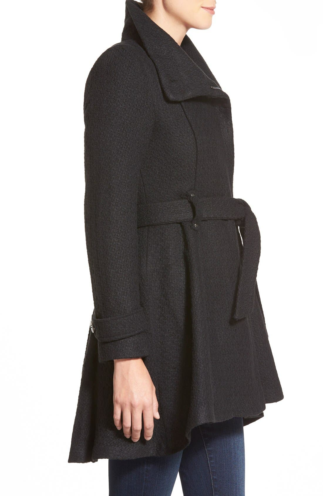 Alternate Image 3  - Steven Madden Asymmetrical Zip Skirted Coat
