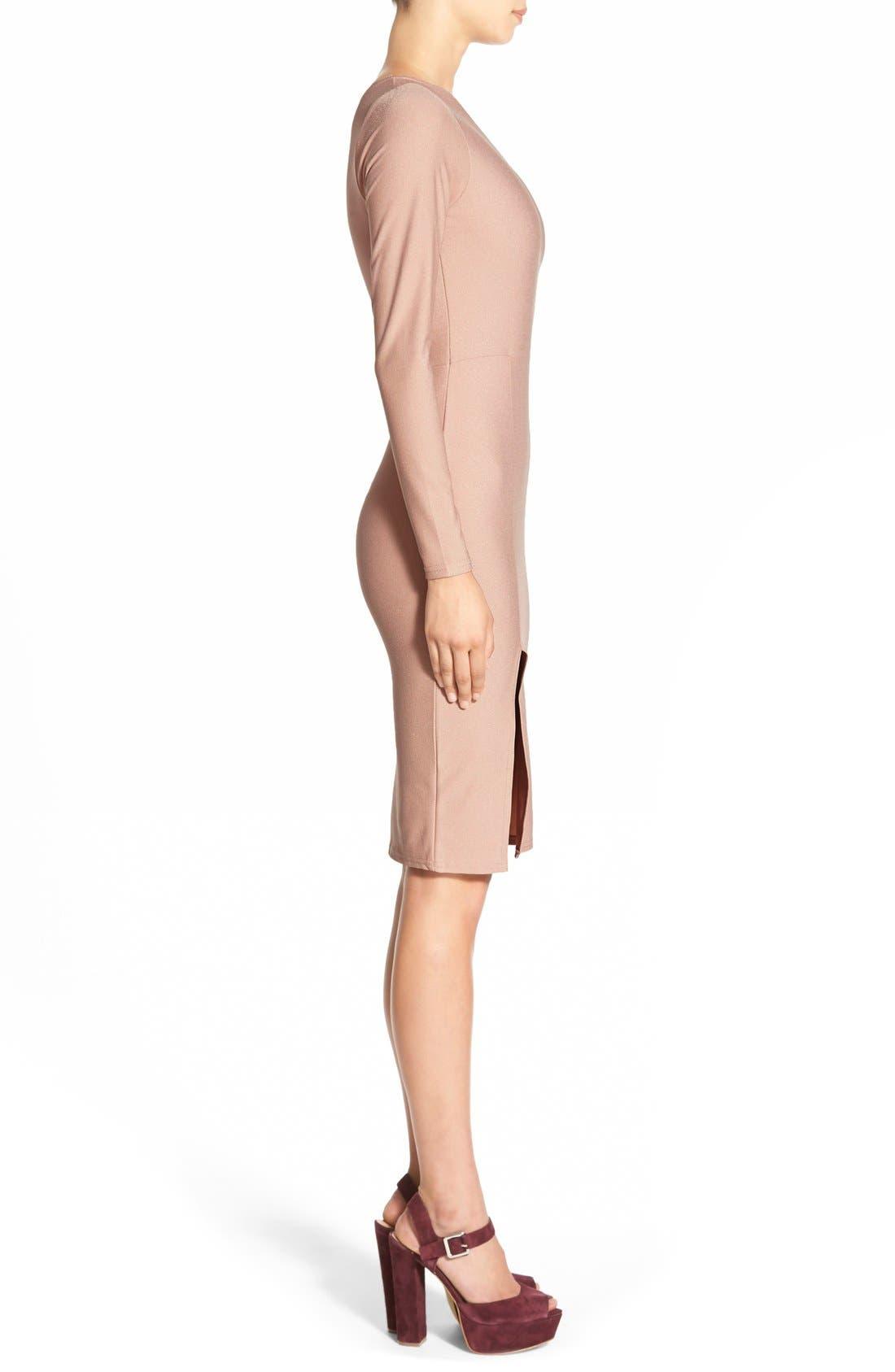 Alternate Image 3  - MissguidedOne-Shoulder Body-Con Dress