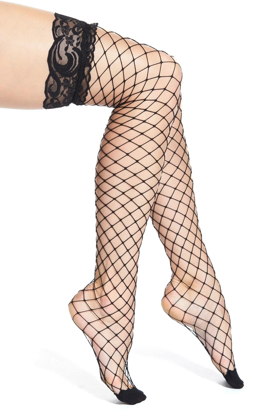 Alternate Image 1 Selected - Nordstrom Net Thigh High Stockings