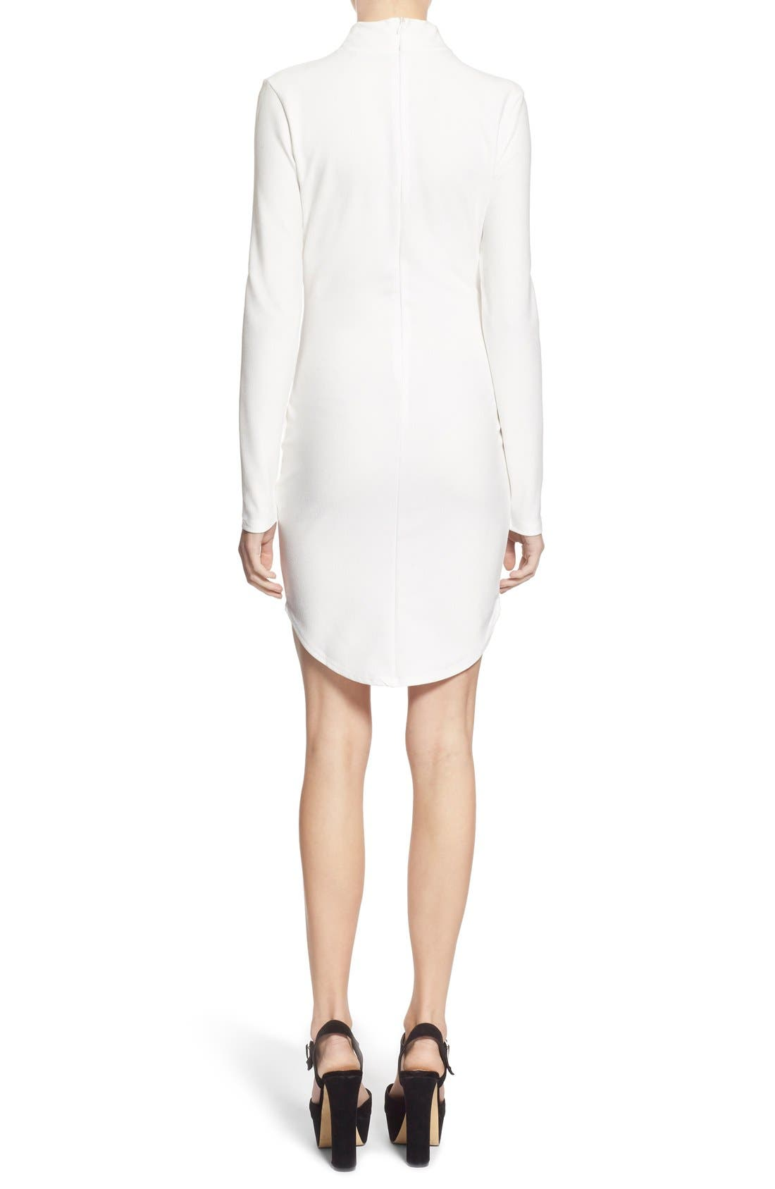 Alternate Image 2  - Missguided Mock Neck Sheath Dress