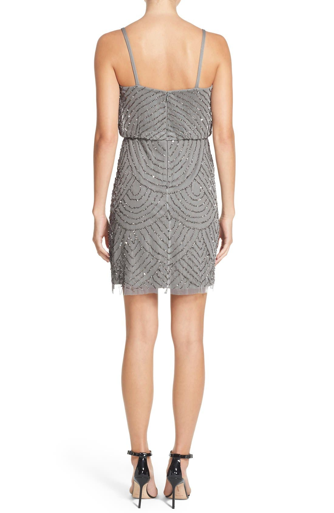 Alternate Image 2  - Adrianna Papell Sequin Mesh Blouson Dress