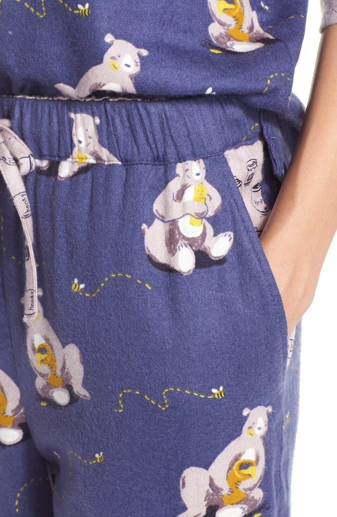 Alternate Image 4  - Munki MunkiFlannel Pajamas
