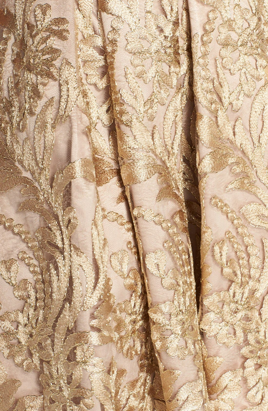 Alternate Image 5  - Eliza J Belted Embroidered Charmeuse Fit & Flare Dress