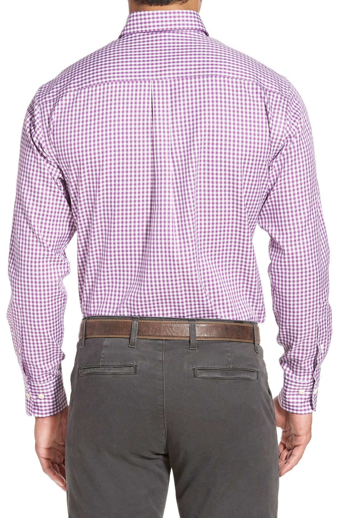 Alternate Image 3  - Peter Millar 'Nanoluxe' Regular Fit Wrinkle Resistant Twill Check Sport Shirt