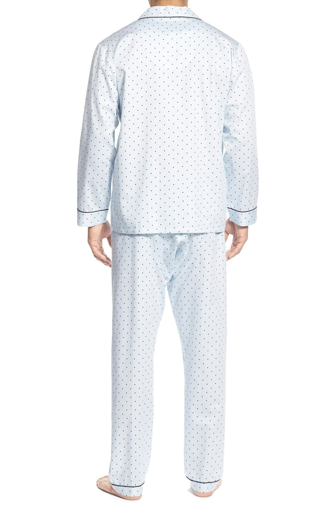 'Twilight' Cotton Pajamas,                             Alternate thumbnail 2, color,                             Navy Dots