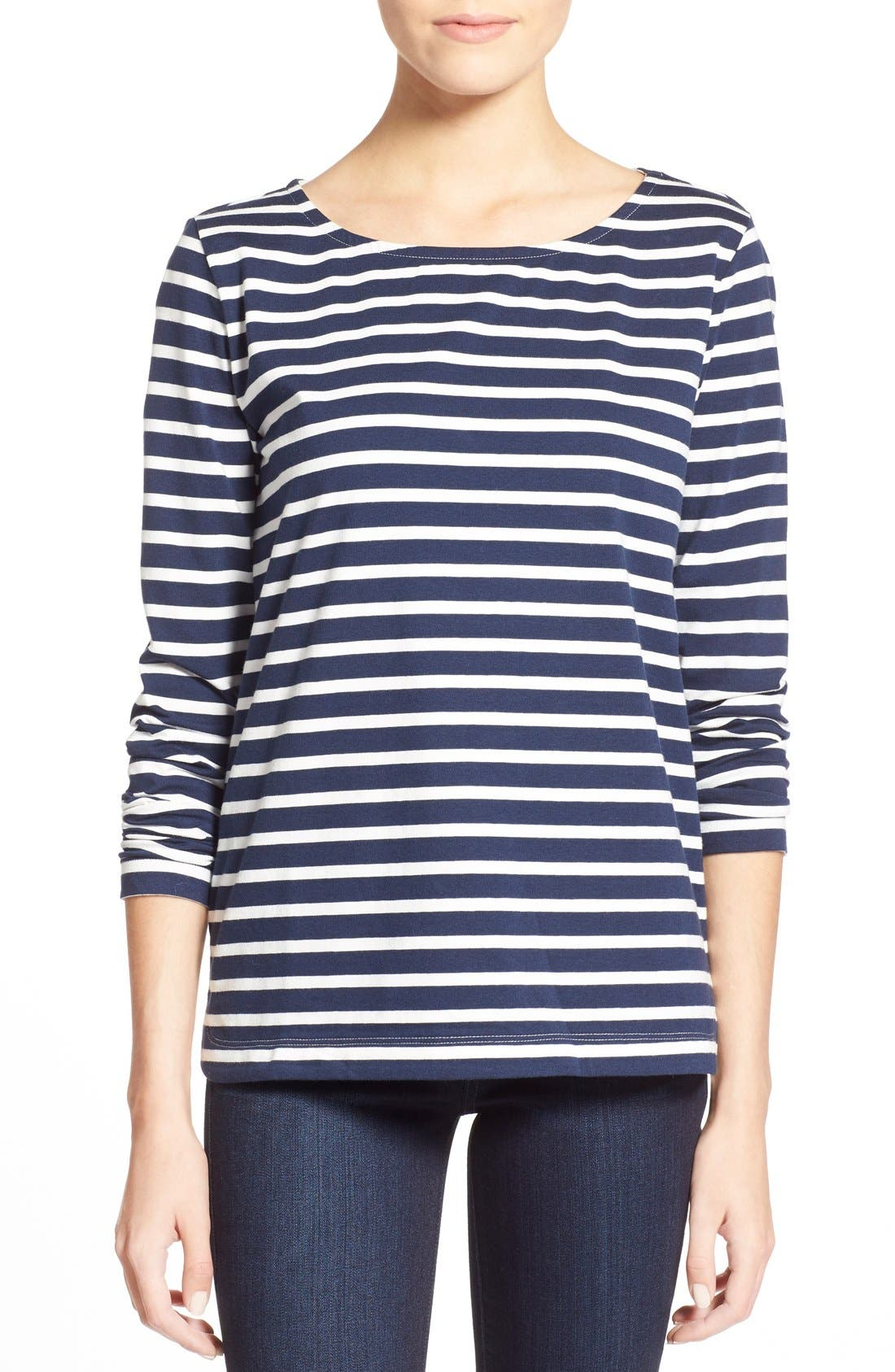 Alternate Image 1 Selected - Vineyard Vines Stripe Long Sleeve Knit Tee
