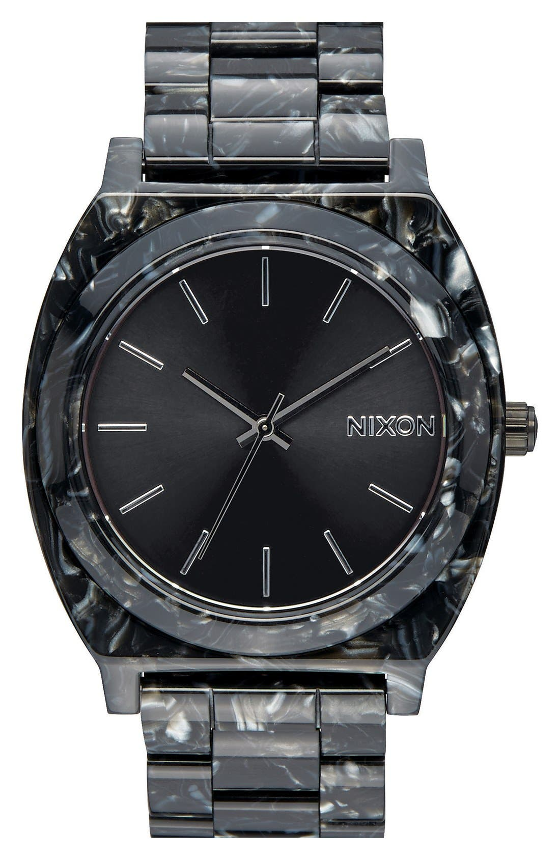 'The Time Teller' Bracelet Watch, 37mm,                         Main,                         color, Black/ Black