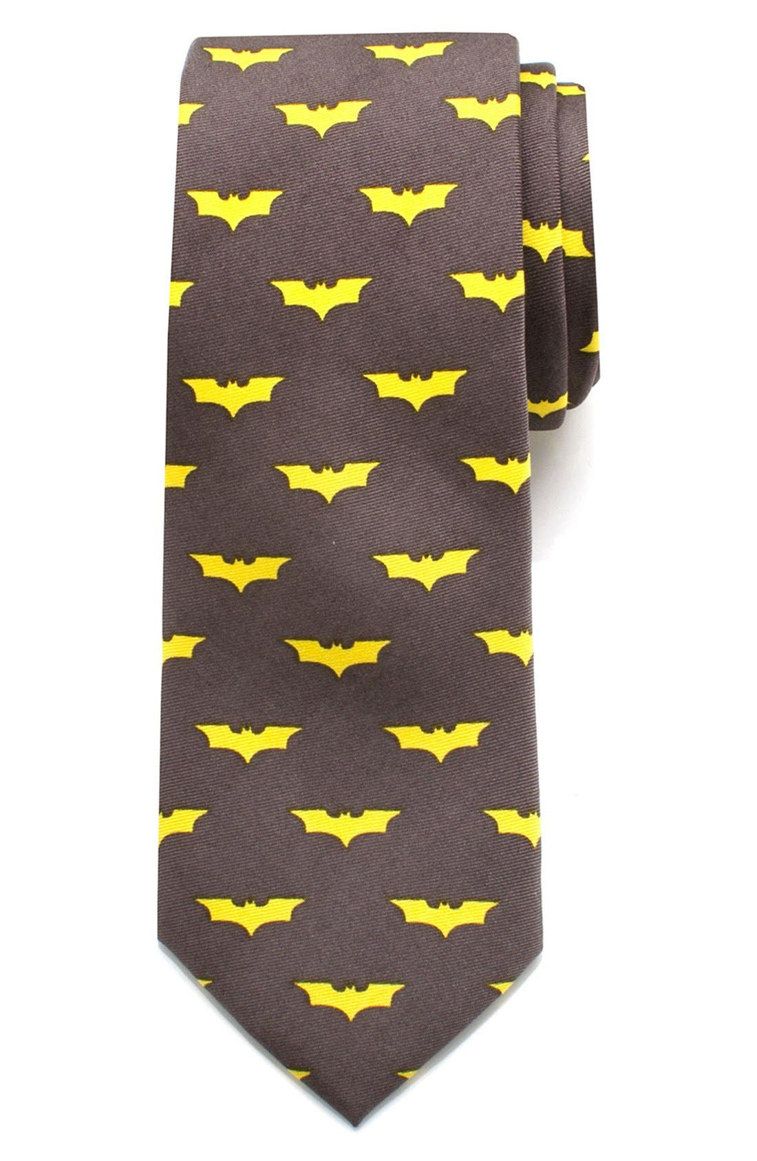 'Batman' Silk Tie,                             Main thumbnail 1, color,                             Multi