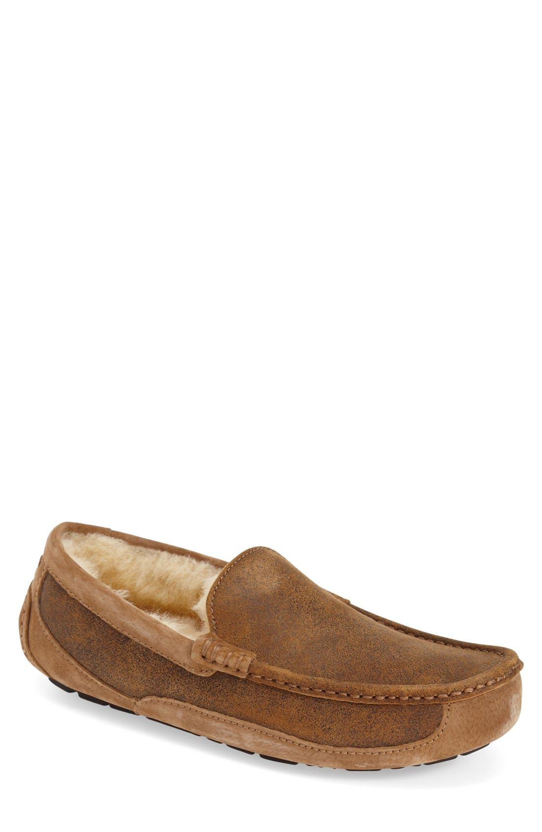 Alternate Image 1 Selected - UGG® Ascot Bomber Slipper (Men)