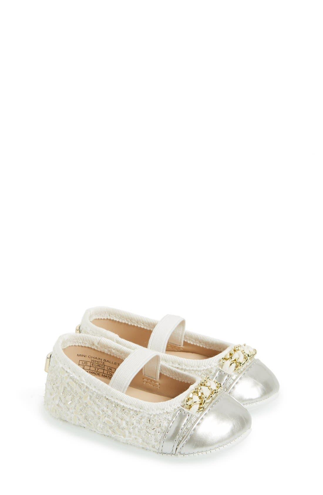 Ivanka Trump Mini Chain Ballet Crib Shoe Baby