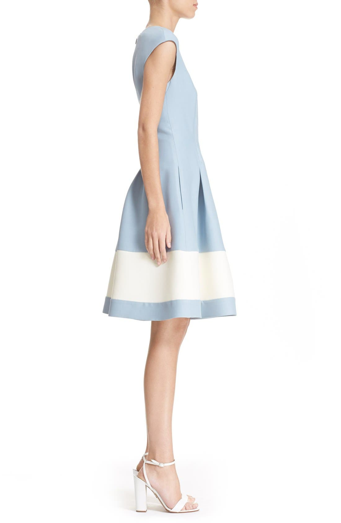 Alternate Image 5  - Fendi Stripe Wool & Silk Blend Fit & Flare Dress