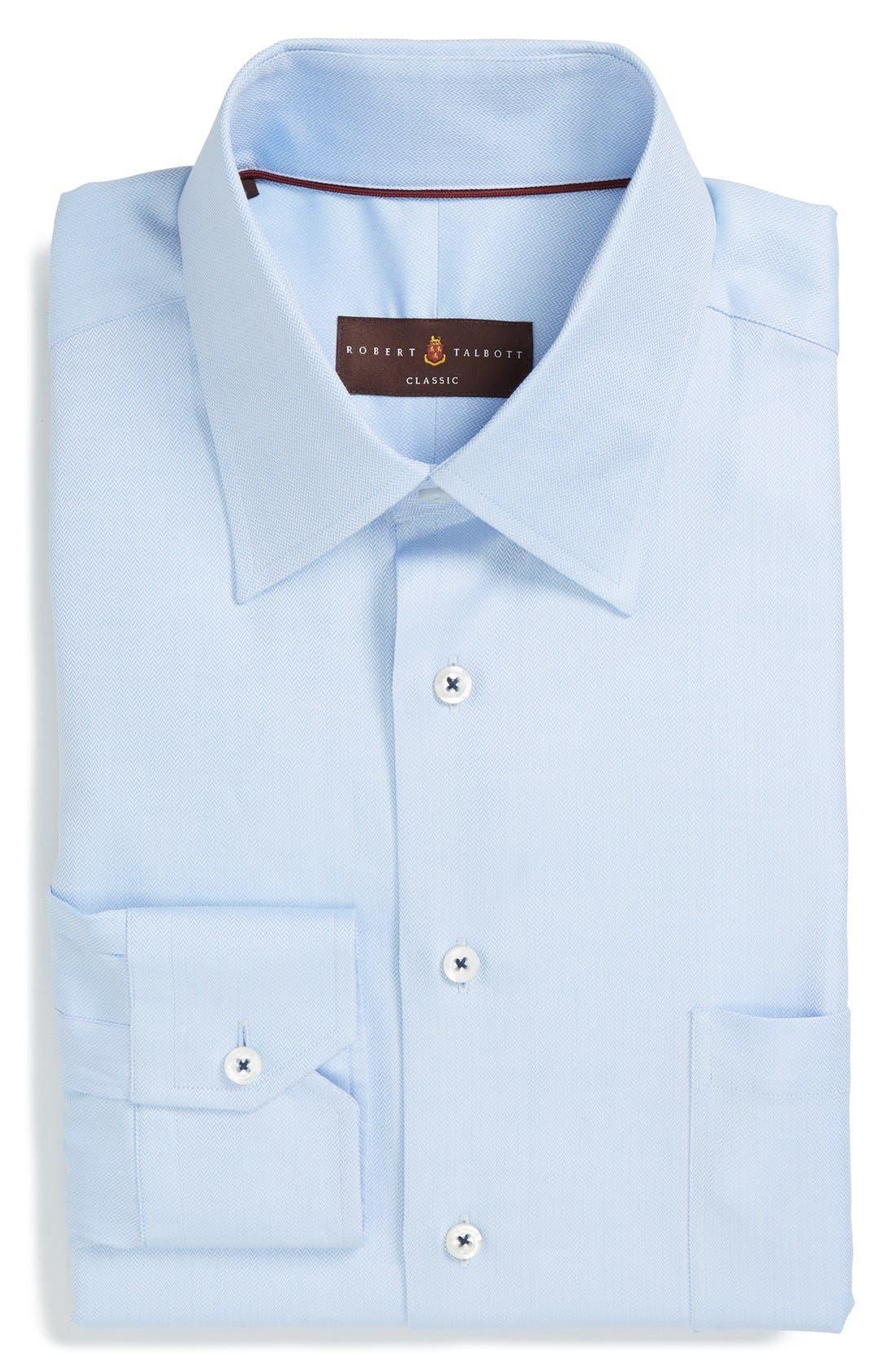 Classic Fit Dress Shirt,                             Main thumbnail 1, color,                             Light Blue