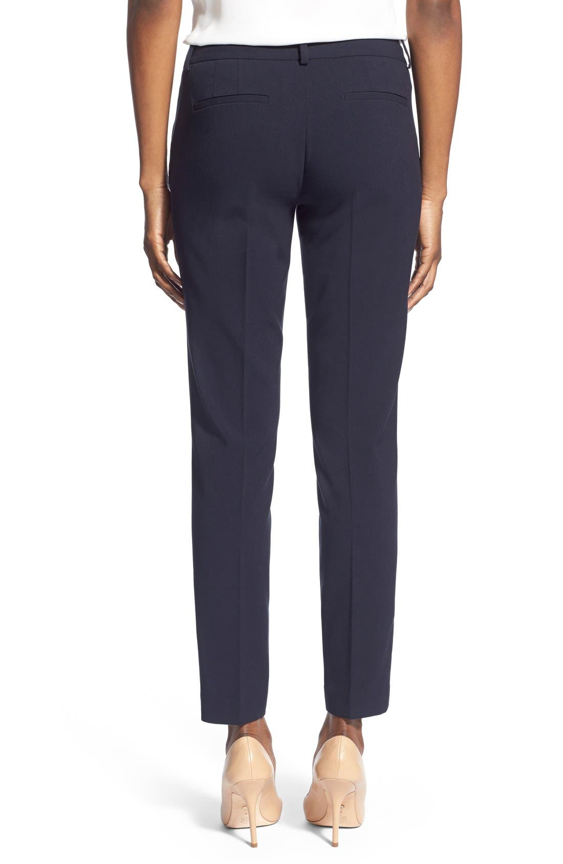 Marlena Ankle Pants,                             Alternate thumbnail 2, color,                             Navy