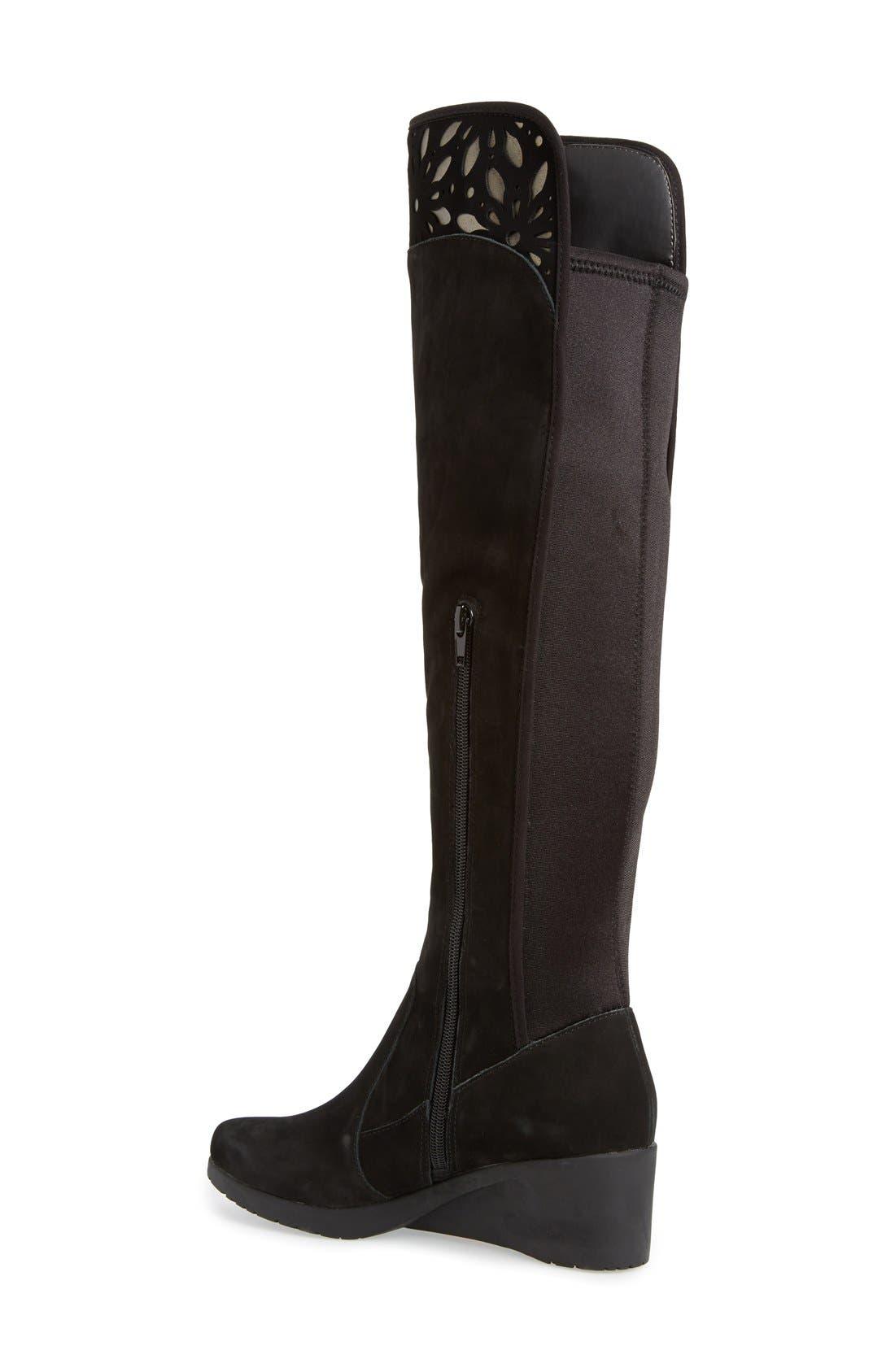Alternate Image 2  - Jambu'Natalia' CutoutDetail Water ResistantOver the Knee Boot (Women)