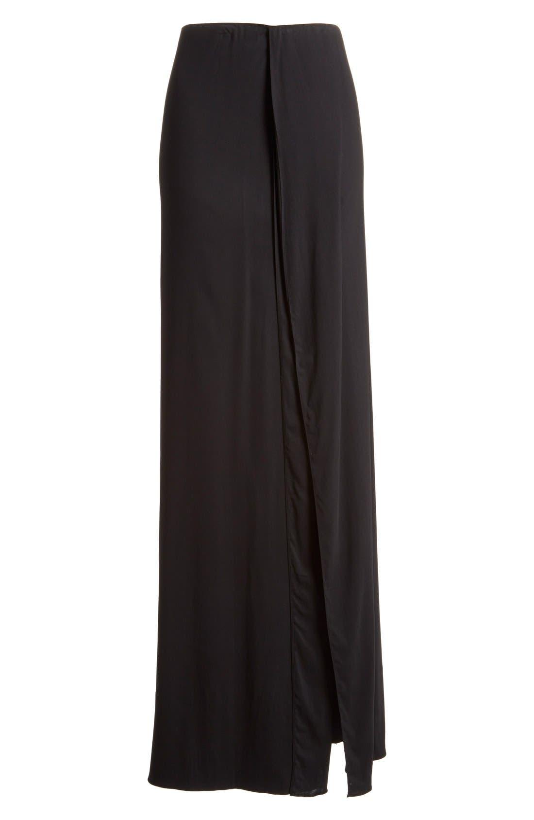 Alternate Image 4  - Donna Karan New York Crepe Flutter Maxi Skirt