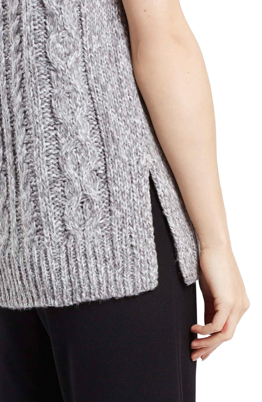 Alternate Image 5  - Topshop Cable Knit Tabard Sweater