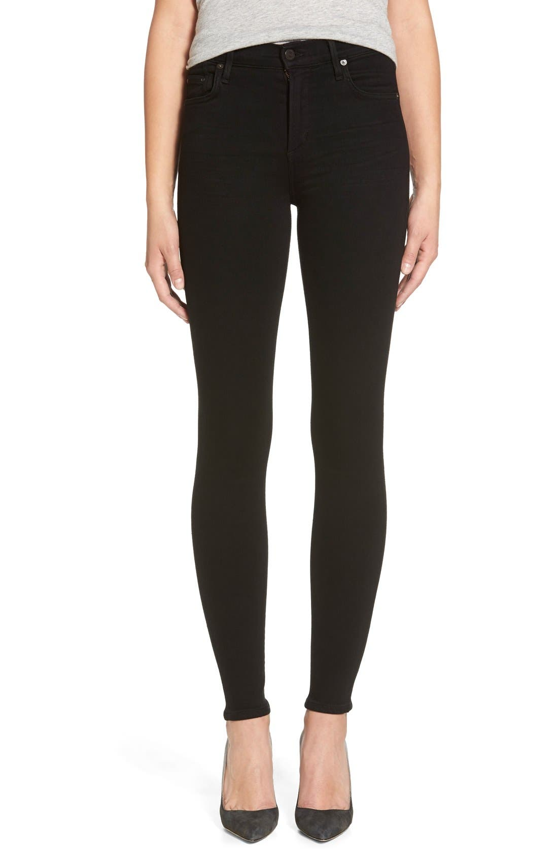 Alternate Image 1 Selected - Citizens of Humanity Rocket High Waist Skinny Jeans (Black)