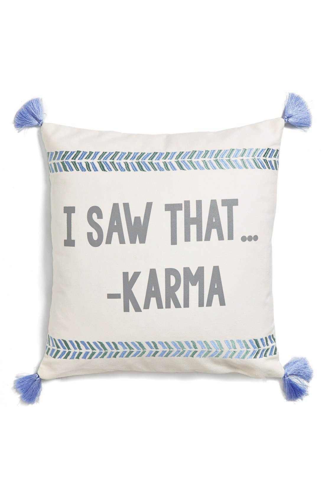 Alternate Image 1 Selected - Levtex 'I Saw That... -Karma' Pillow