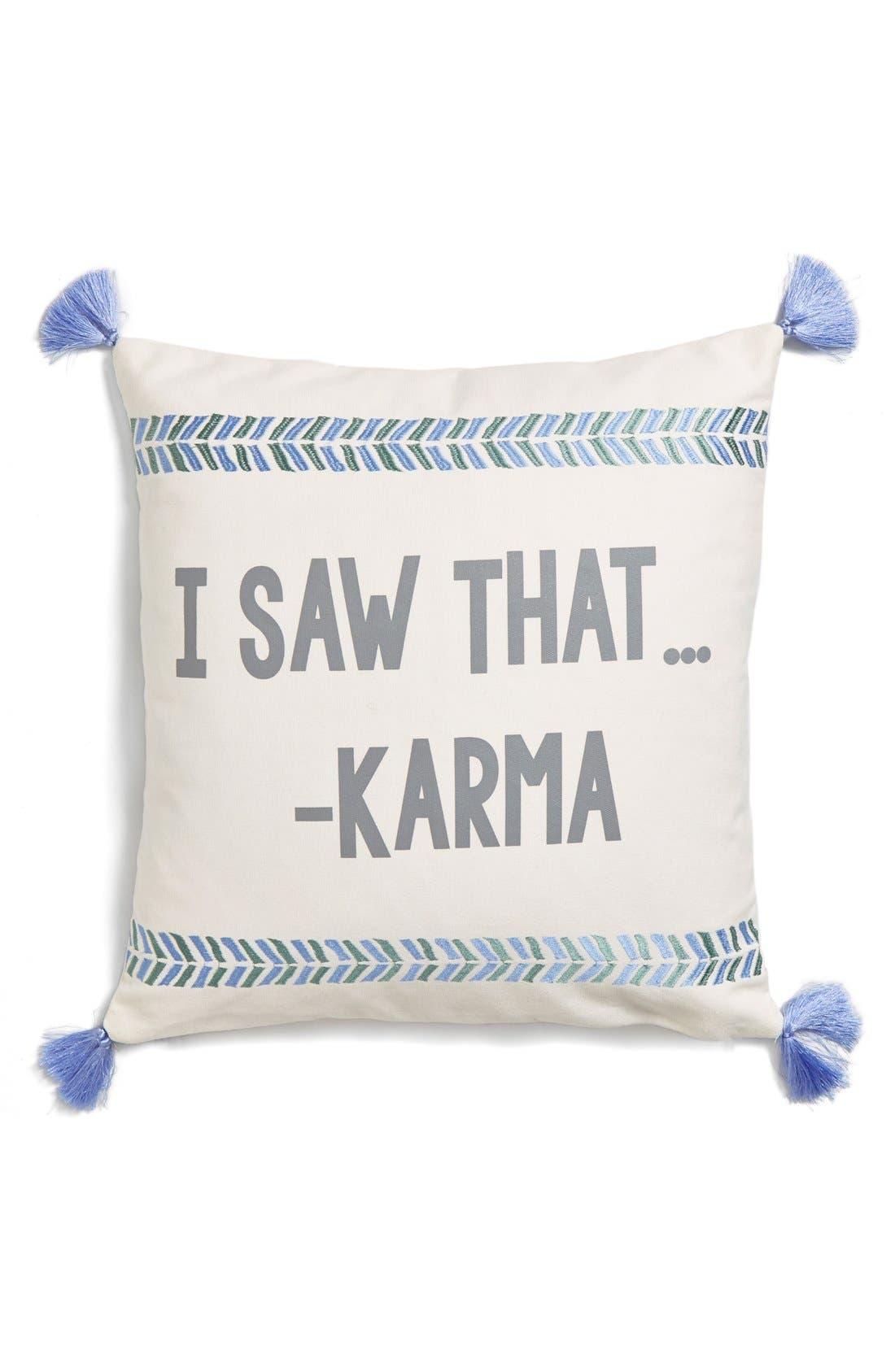 Main Image - Levtex 'I Saw That... -Karma' Pillow